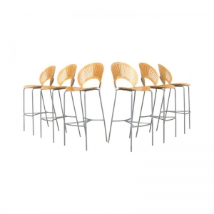 Trinidad Barstool by Nanna Ditzel for Fredericia Furniture, set of 6