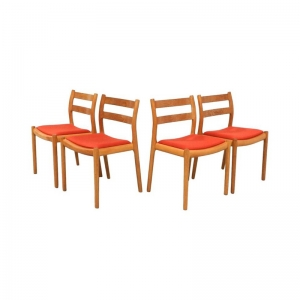 Dining Chairs by Niels Otto Moller mod.84 in Oak