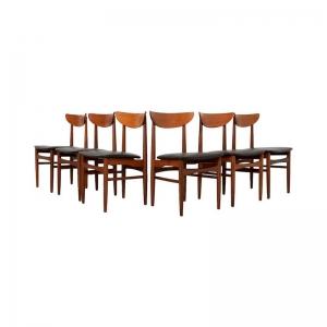 Danish Dining Chairs by Skovby Møbelfabrik in Teak, set of 6