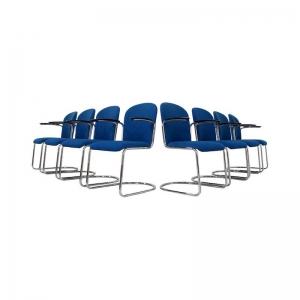 Gispen Cantilever Chairs mod 413 R for Dutch Originals, set of 8