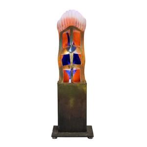 Light Sculpture by Kjell Engman for Kosta Boda