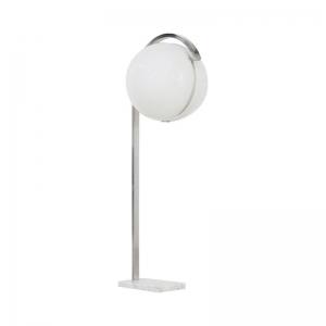 1960s Italian Globe Floor Lamp on Carrera Marble Base