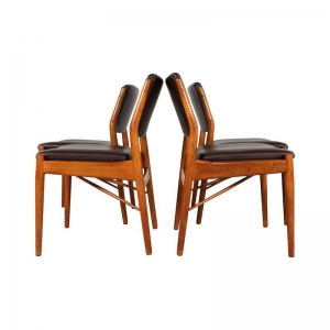 Danish Dining Chairs by Arne Vodder for Sibast Furniture,1960s