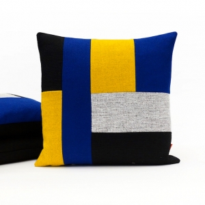 Color block cushion handmade by EllaOsix