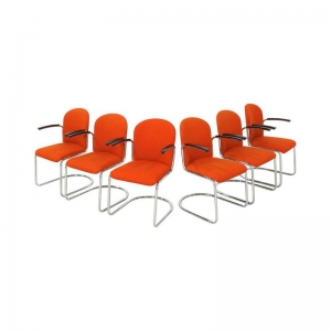 Gispen Cantilever Chairs mod 413 R for Dutch Originals