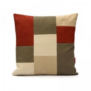 Modern Patchwork Pillow by EllaOsix