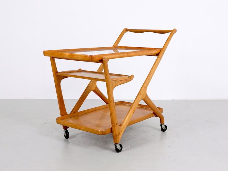 Cesare Lacca Tea Trolley Cart, 1950s