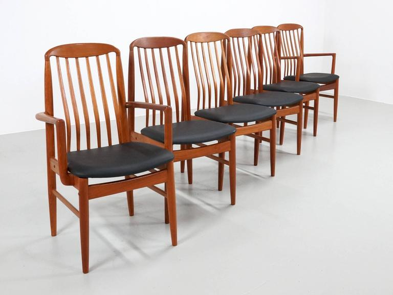 Danish Teak Dining Chairs Benny Linden