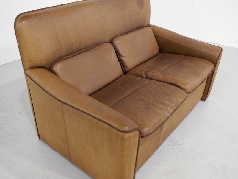 1970s Leolux 2 Seater Sofa in Neck Leather