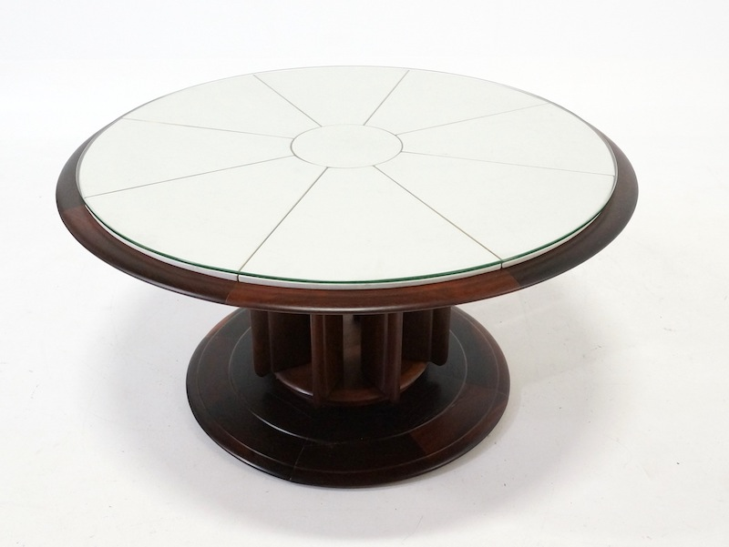 1950s Round Italian Rosewood Center or Coffee Table