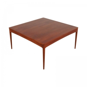 1960s Square Danish Teak Coffee Table