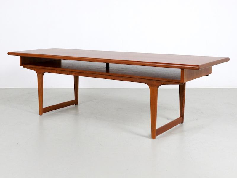 Large Danish Teak Coffee Table, 1960s