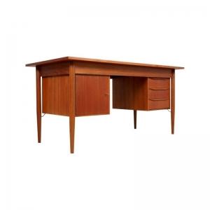 Danish Teak Desk by Gunnar Nielsen Tibergaard