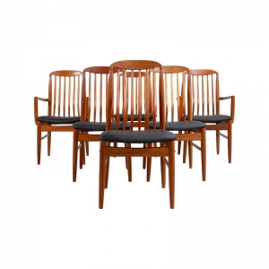 Teak Dining Chairs by Benny Linden, set of 6