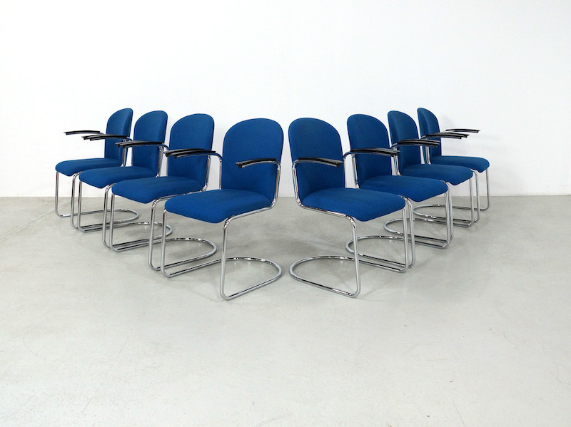 Gispen Cantilever Chairs mod 413 R for Dutch Originals, set of 8