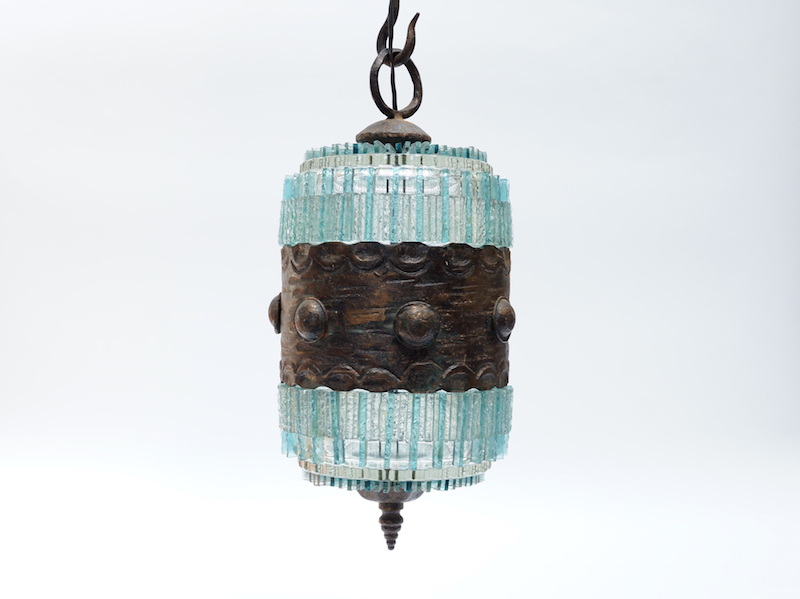 Italian Glass Pendant from Poliarte, 1970s