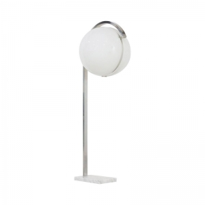 1960s Italian Globe Floor Lamp on Carrera Marble Base