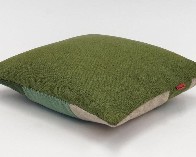 Geometric Color Block Pillow Handmade by EllaOsix