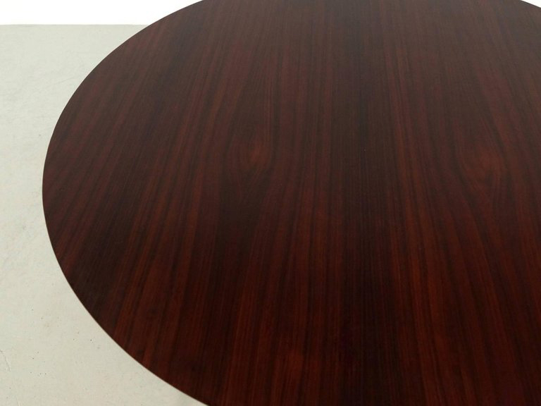 1960s Round Rosewood Dining Table