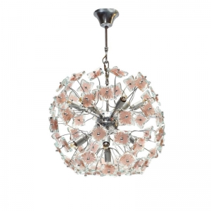 1970s Italian Glass Sputnik Chandelier