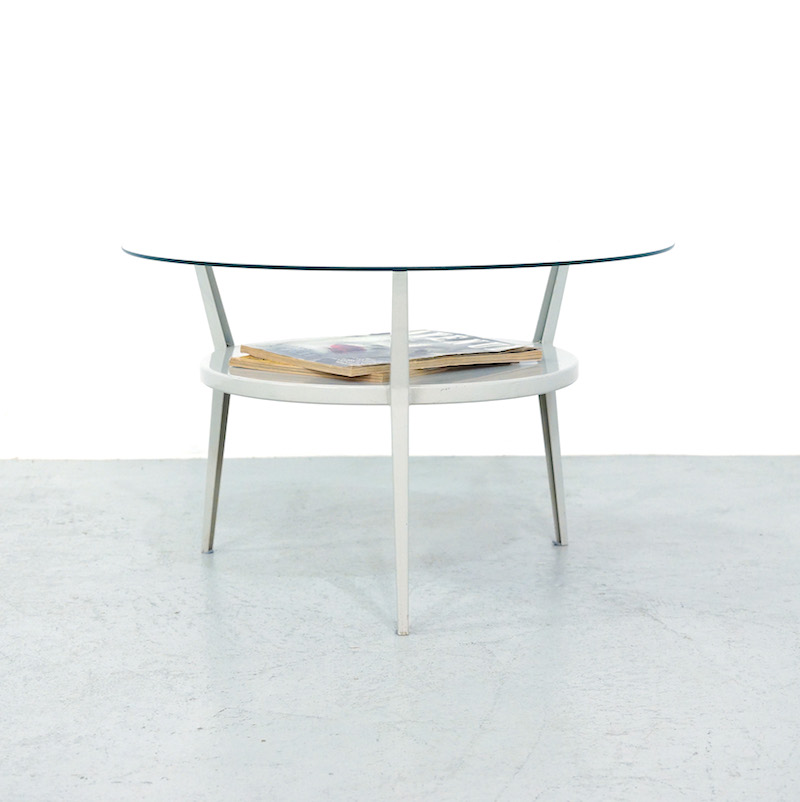1964 Rare Friso Kramer Coffee Table For Ahrend De Cirkel: Friso Kramer Rotonde Coffee Table