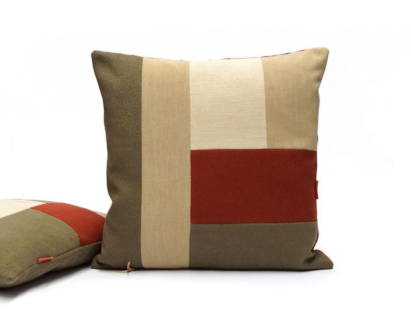 Modern Patchwork Cushion by EllaOsix