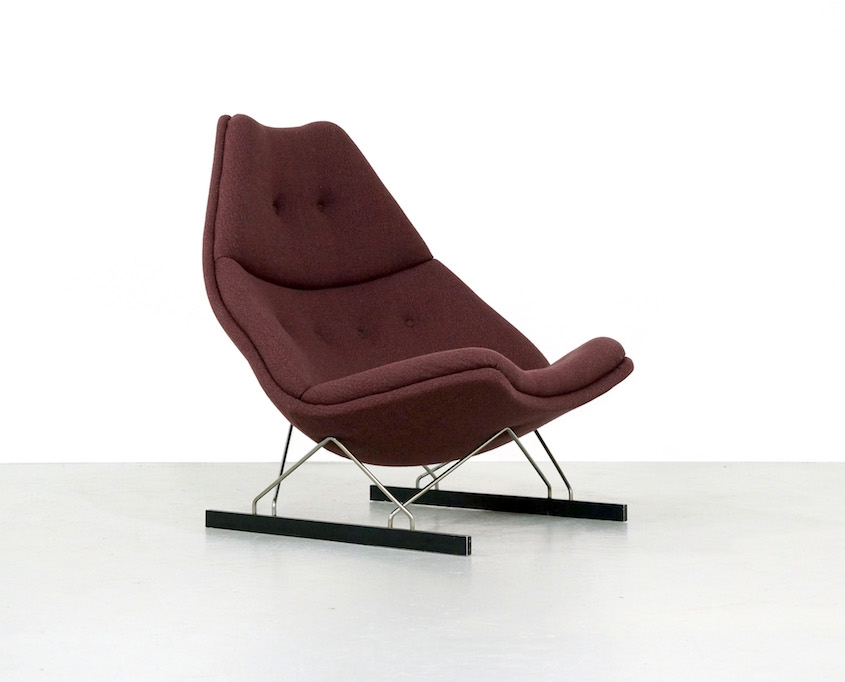 Vintage Artifort F592 Lounge Chair by Geoffrey Harcourt