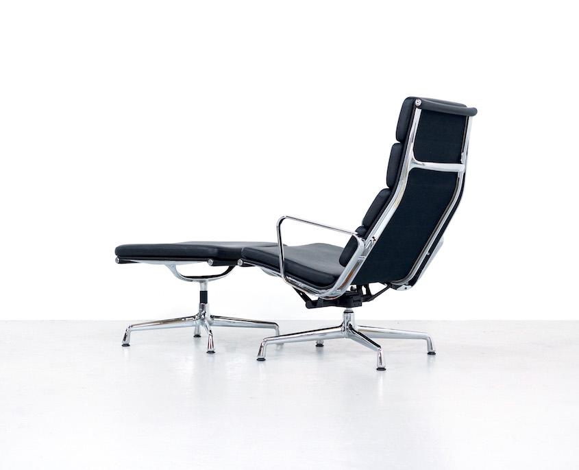 Eames Ea 222 Soft Pad Chair And Ottoman Ea223 Kameleon