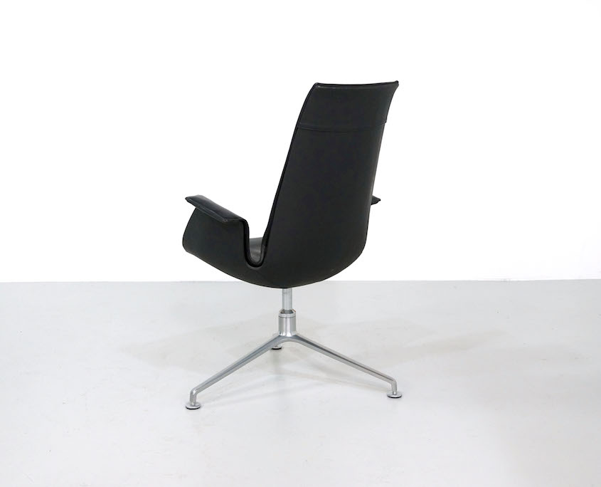 Black Leather Bird Chair by Fabricius & Kastholm for Kill