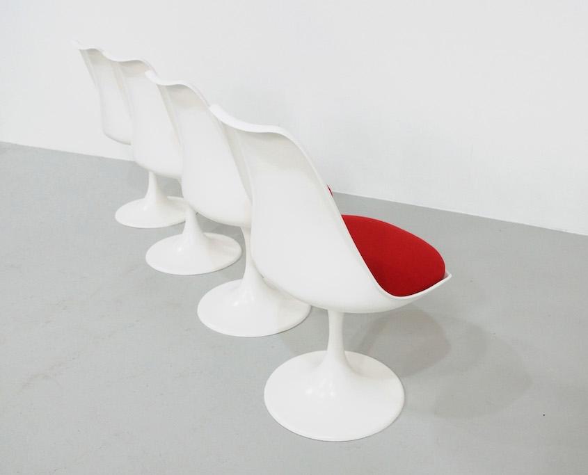 Saarinen Tulip Chairs for Pastoe, set of 4