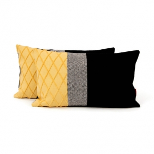 Modern Lumbar Color Block Pillow by EllaOsix