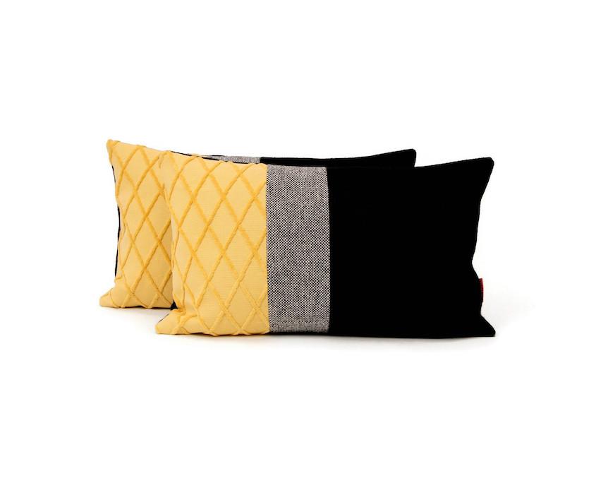 Modern Lumbar Color Block Pillow by EllaOsix