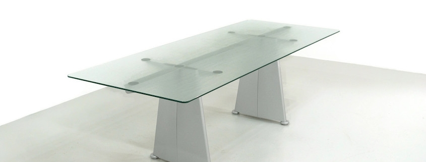 1980s Jean Prouve Trapèze Dining Table by Tecta