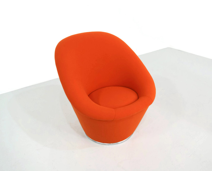 1970s Orange Space Age Lounge Chair