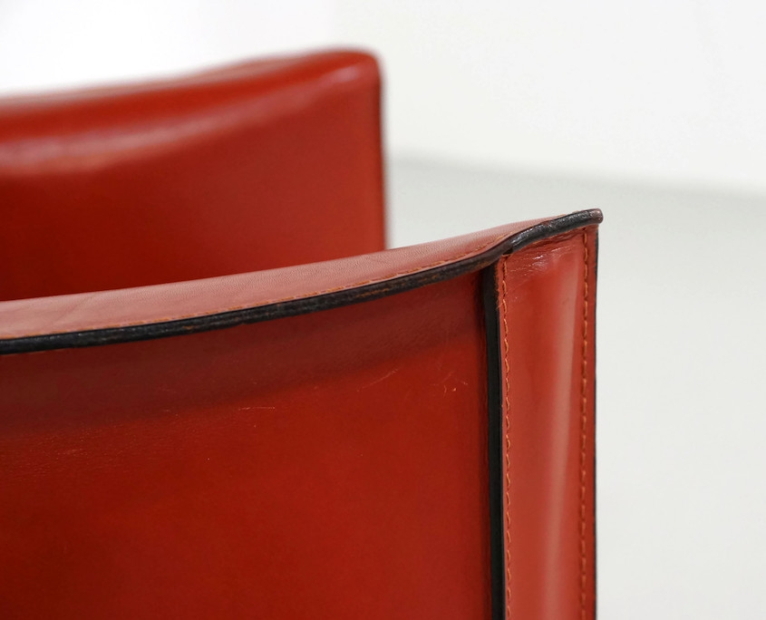 413 Cab Chairs by Mario Bellini for Cassina