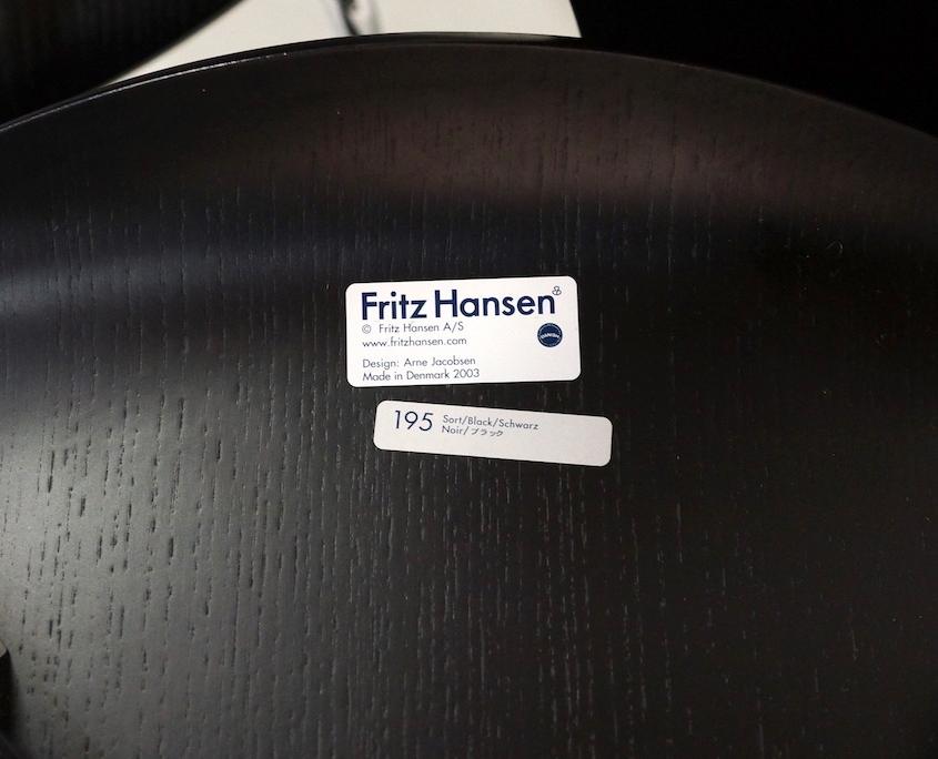Black Arne Jacobsen 7 series 3207 Dining Chairs for Fritz Hansen