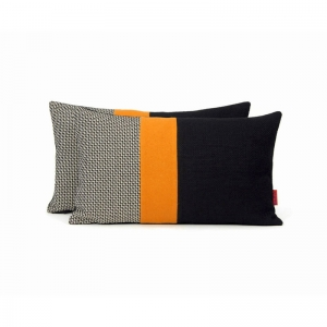 Modern Color Block Pillow by EllaOsix