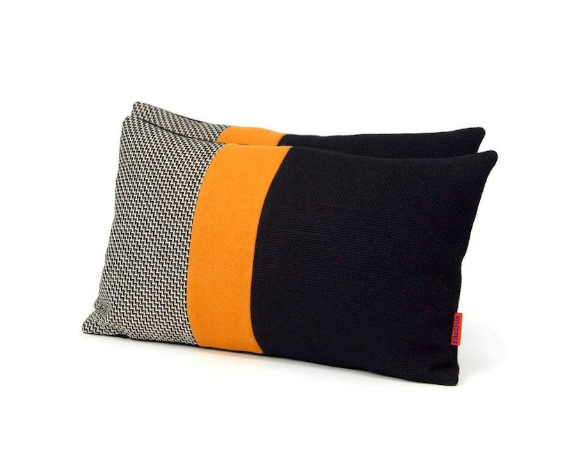 Modern Color Block Pillow by EllaOsix