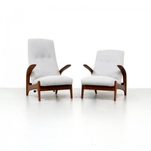 Kameleon Design ~ Pair Gimson & Slater Lounge Chairs by Rolf Rastad and Adolf Relling