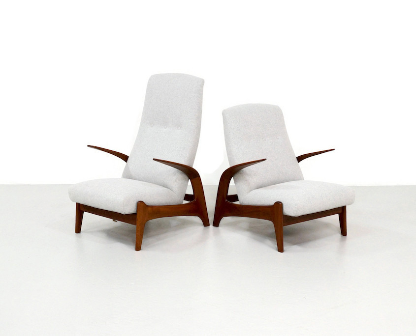Kameleon Design ~ Pair Gimson and Slater Lounge Chairs by Rolf Rastad and Adolf Relling