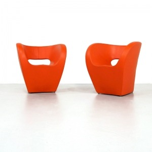Leather Moroso Victoria and Albert Chair by Ron Arad