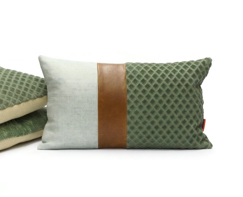 Ella Osix | Leather Accent Pillow Cover 30x50 cm