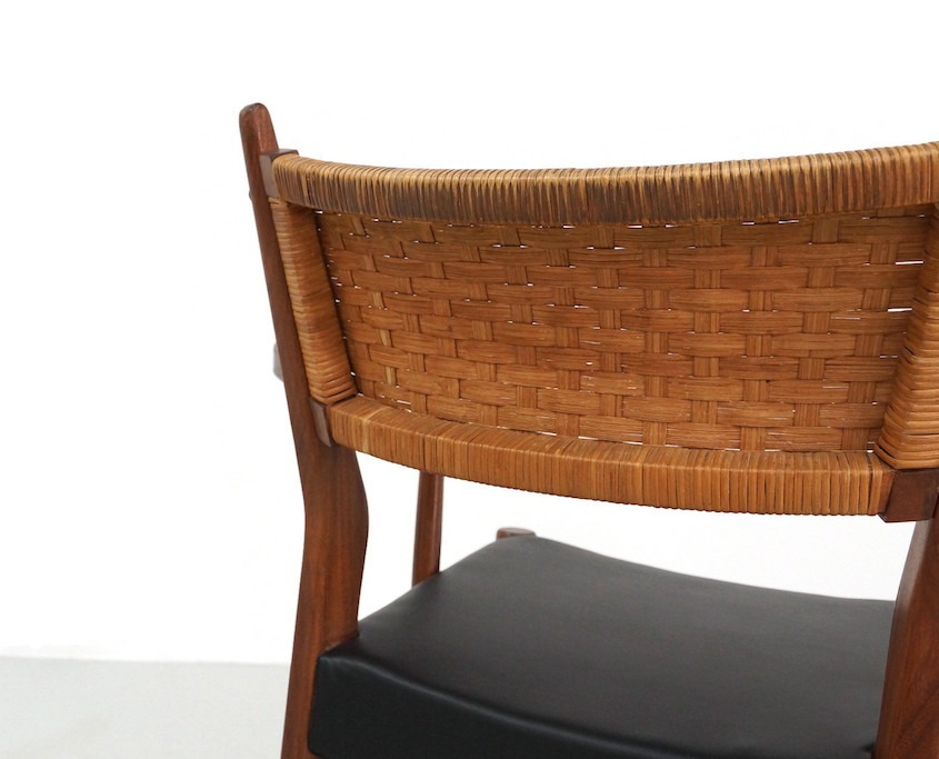 Kameleon Design | Mid-Century Teak Dining Chairs with Woven Cane Backrest