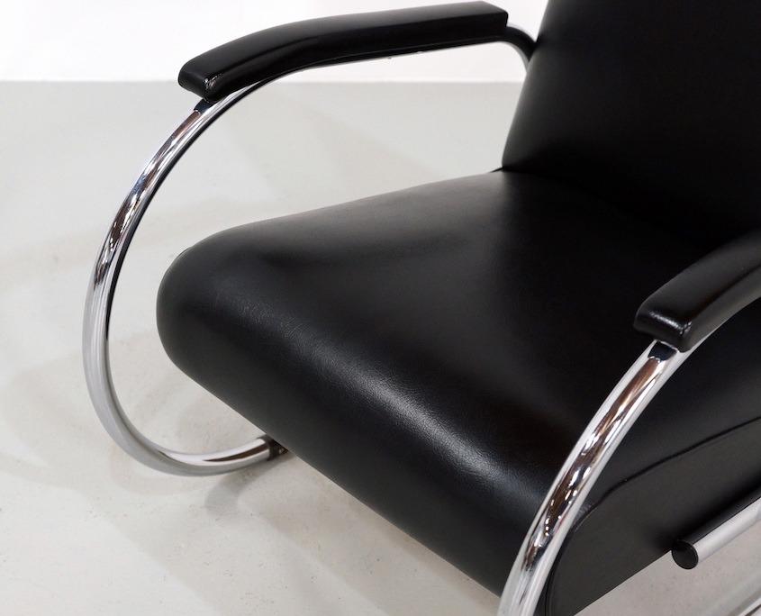 Kameleon Design | Vintage Tubax Vilvoure 1948R Tubular Steel Lounge Chair