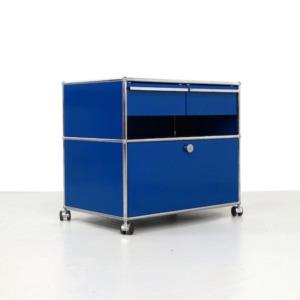 Vintage UMS Haller blue cabinet