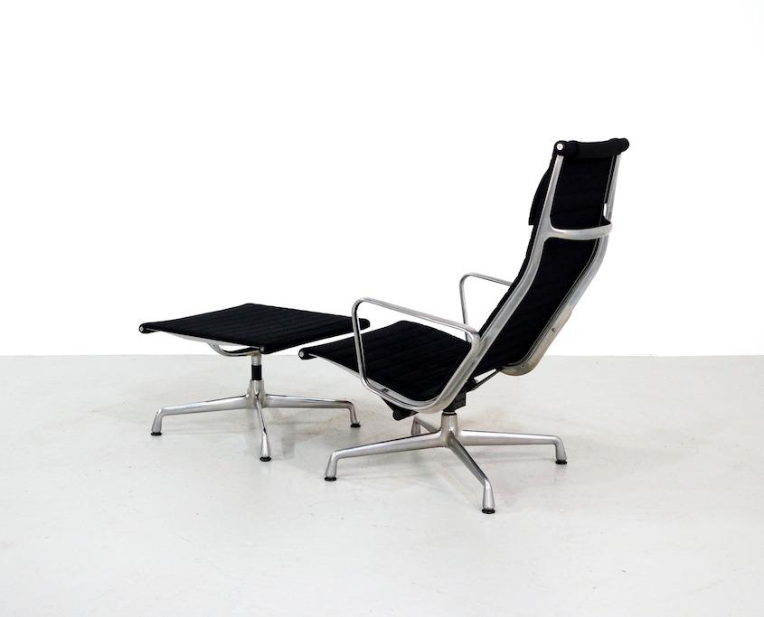 Vintage Eames Lounge Chair EA124 and Ottoman EA125