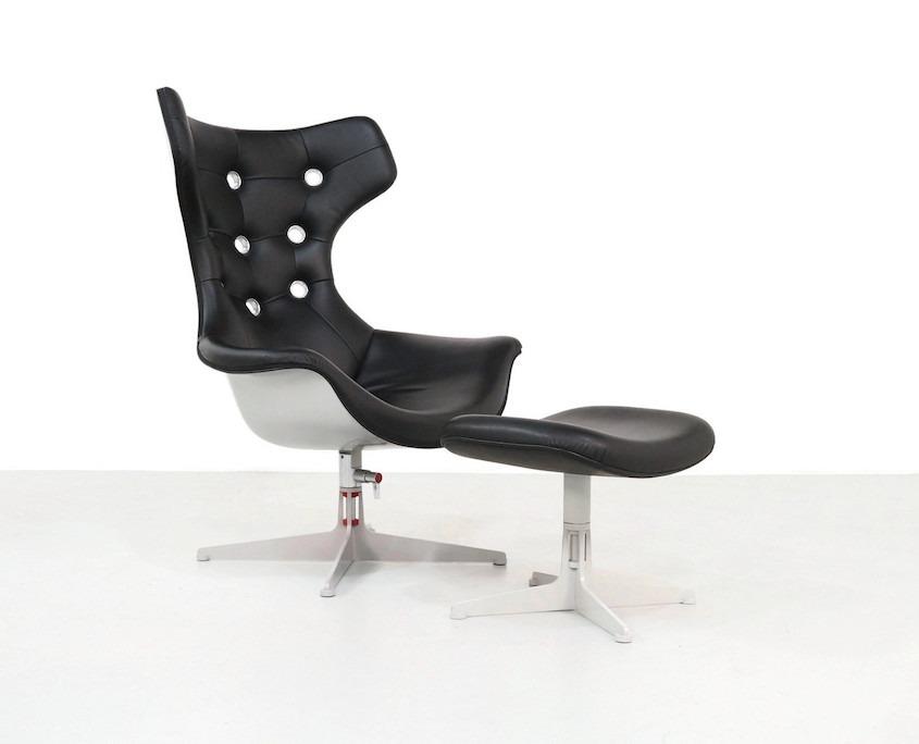 Poltrona.Poltrona Frau Regina Swivel Lounge Chair And Ottoman Kameleon Design