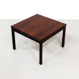 Scandinavian Haug Snekkeri Bruksbo Square Rosewood Side Table