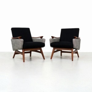 Pair Mid-Century Dutch Armchairs