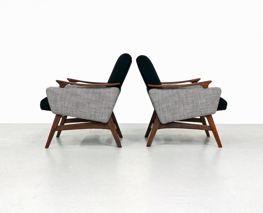 Pair Mid-Century Dutch Armchairs